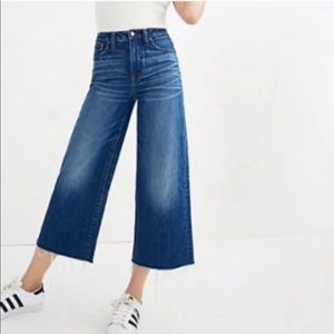 MADEWELL High Waist Crop Wide Leg Jeans